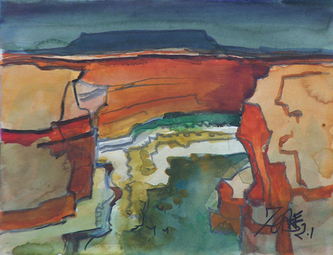 Milford Zornes Canyon de Chelly 2001