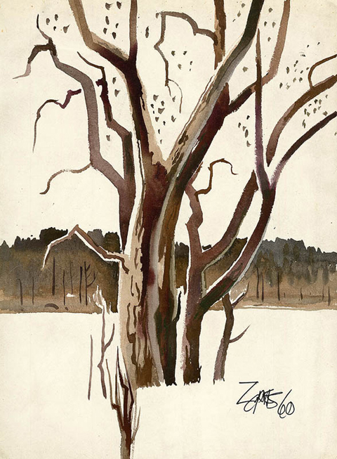 Milford Zornes Untitled Tree