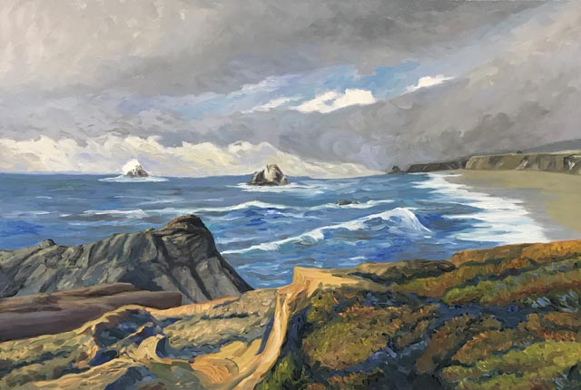 Linda Sorensen Stormlight Hogbacks Rock Wrights Beach Sonoma Coast