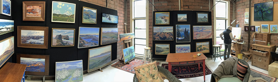 Linda Sorensen in her studio May 25, 2018