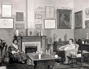 Alice B Toklas and Gertrude Stein in their parlor