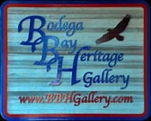 Bodega Bay Heritage Gallery Sign with Logo