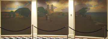 California State Capitol Rotunda Series of Four Triptych Paintings by Arthur Mathews 1