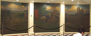 California State Capitol Rotunda Series of Four Triptych Paintings by Arthur Mathews 2