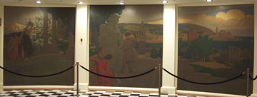 California State Capitol Rotunda Series of Four Triptych Paintings by Arthur Mathews 3