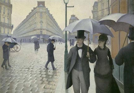 Gustave Caillebotte Paris Street Rainy Day 1877