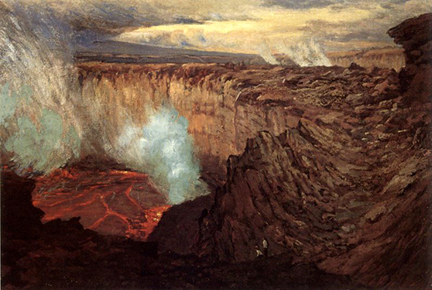 Ernst William Christmas Kilauea Caldera c 1916