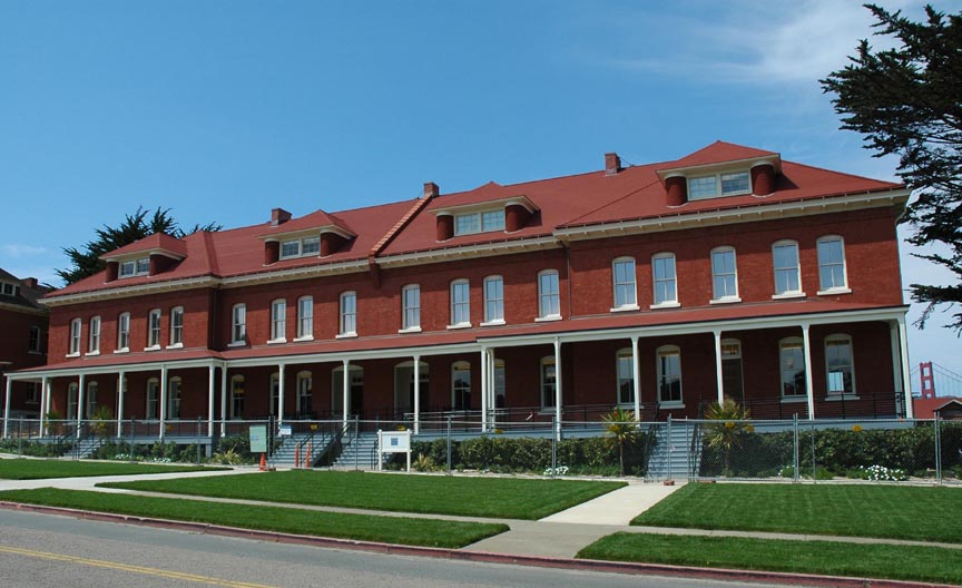 Walt Disney Family Museum Exterior with GG Bridge