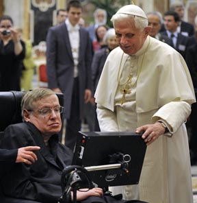 Steven Hawking and Pope Benedict
