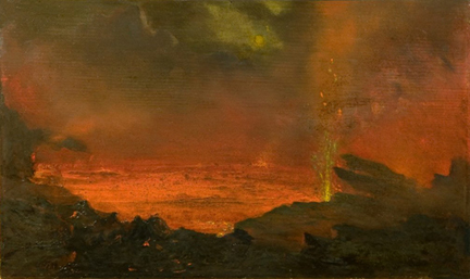David Howard Hitchcock Halemaumau Lake of Fire 1888