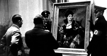 Hitler and Goering with Stolen Art