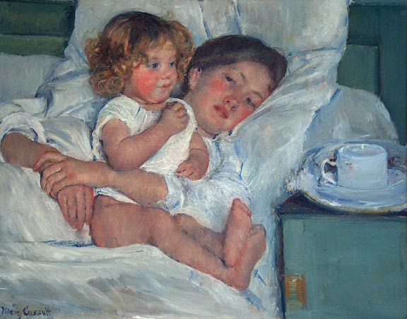 Mary Cassatt Breakfast in Bed The Huntington Library