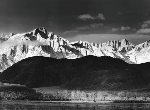 Ansel Adams, Winter Sunrise, the Sierra Nevada from Lone Pine, California, 1944