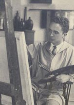 Norman Rockwell at Easel