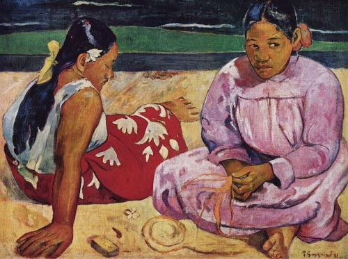 Paul Gauguin Tahitian Women on a Beach 1891
