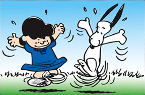 Snoopy and Lucy Dancing