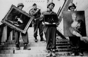 Nazi Soldiers with Stolen Art