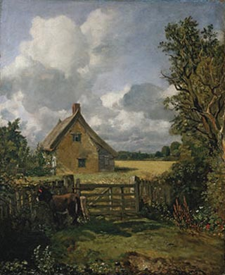 John Constable A Cottage In a Cornfield