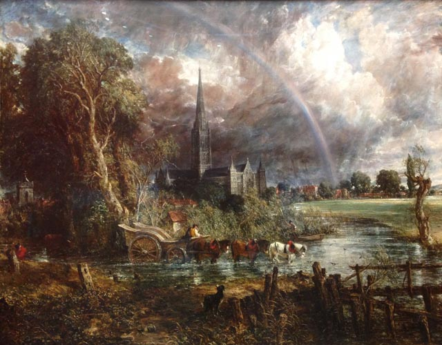 John Constable Salisbury Cathedral from the Meadows, 1831