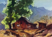 Ralph Baker Deserted Cabin and Tree Midsized Thumbnail