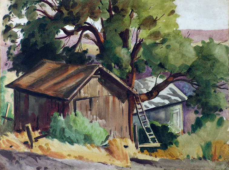 Ralph Baker Shed Ladder and Tree