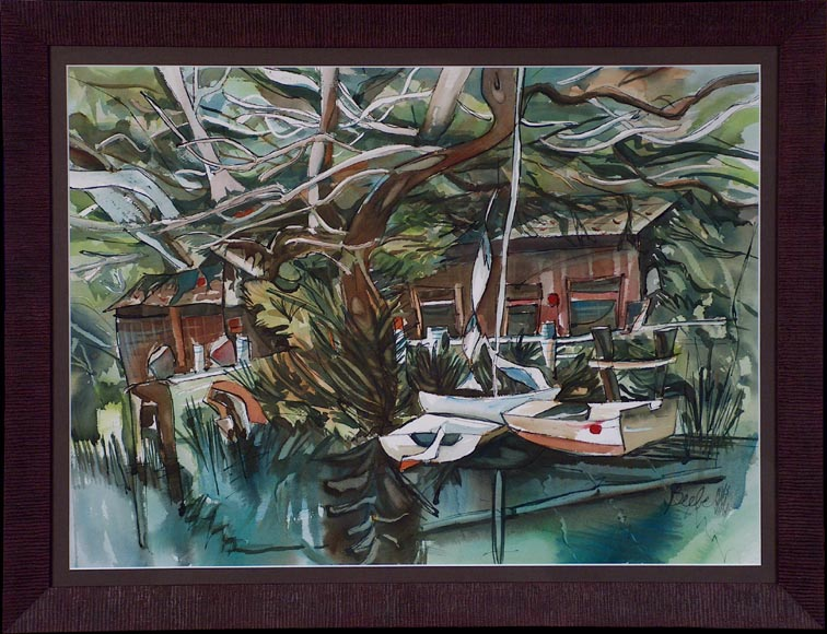Sandra Beebe Quiet Cove Pacific Grove with Frame