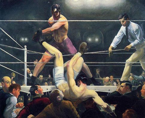 George Bellows Dempsy and Firpo 1924