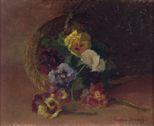 Josephine Blanch Pansies in a Basket