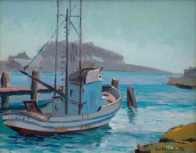 Jon Blanchette California Plein Air artist Fishing Boat