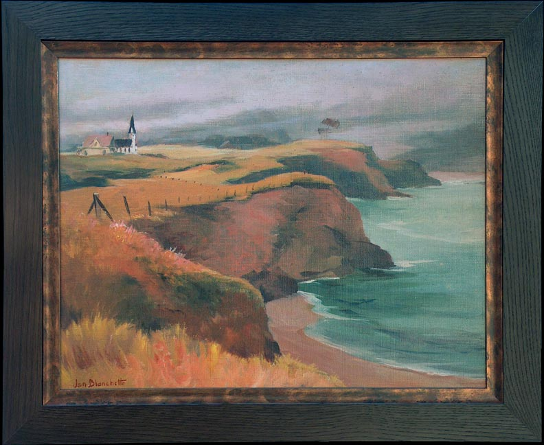Jon Blanchette Mendocino Church Northern California Coast with Frame