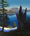 Blue Crater Lake Linda  Sorensen