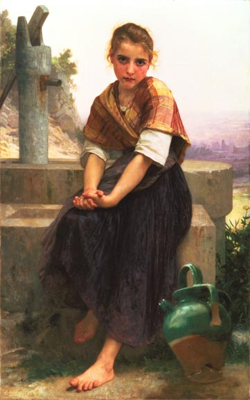 William Adolphe Bouguereau The Broken Pitcher 1891
