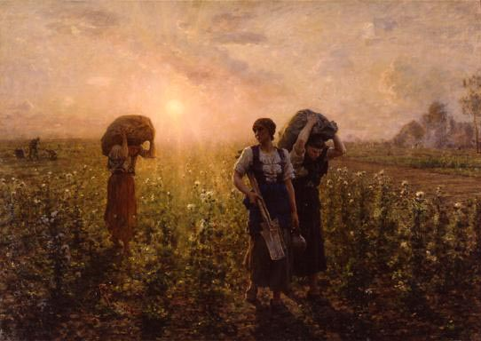 Jules Breton End of the Work Day