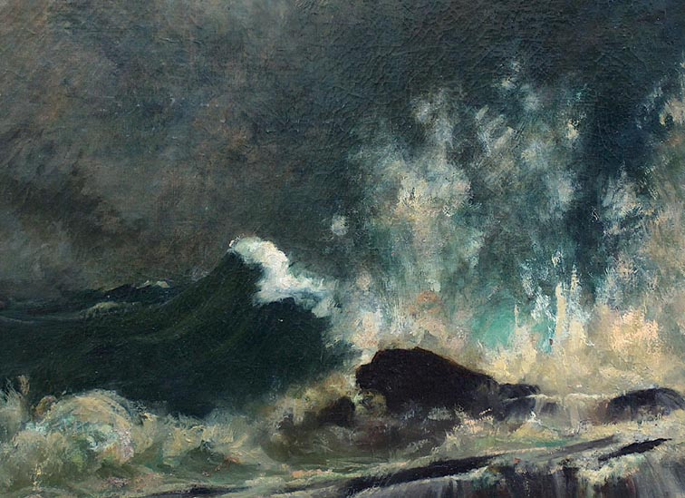 John Appleton Brown Crashing Waves Closeup