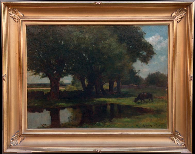 John Appleton Brown Pastoral Pond with Frame