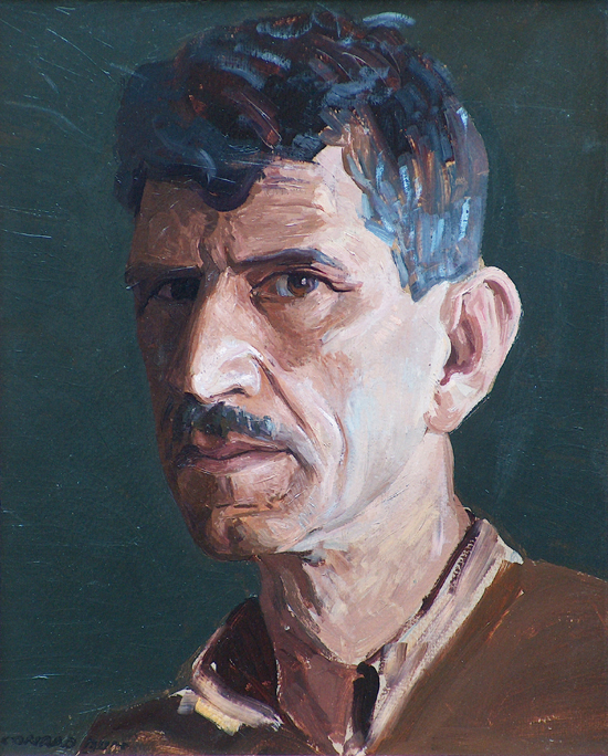Conrad Buff Self Portrait Brown Shirt