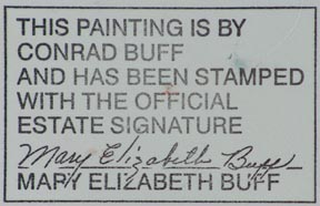 Conrad Buff Sunlit Face Estate Stamp