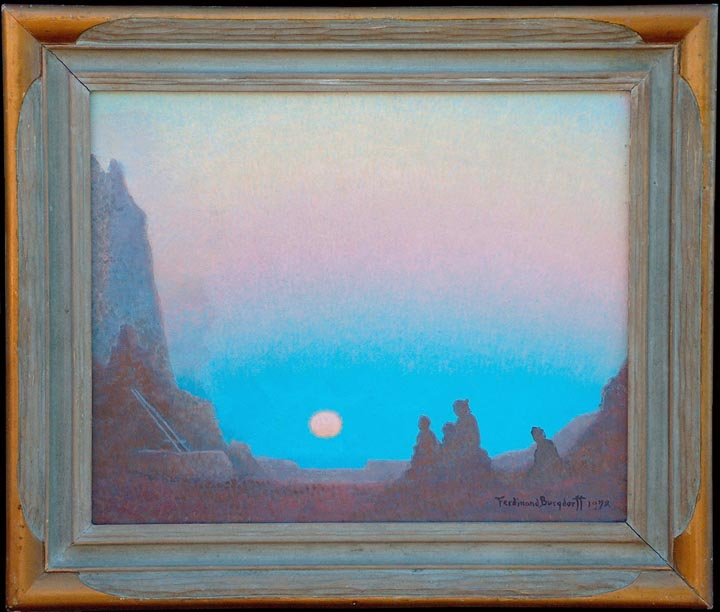 Ferdinand Burgdorff Indians at Monument Valley with frame