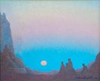 Ferdinand Burgdorff Indians in Monument Valley Thumbnail