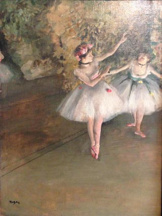 Edgar Degas Two Dancers on Stage