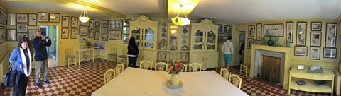 Claude Monet's dining room at Giverny