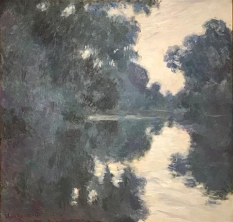 Claude Monet, Morning on the Seine, 1896 Tango's Collection