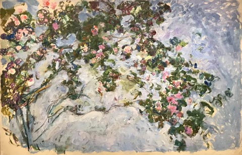 Clalude Monet, Roses, Giverny, 1925-26 Musee Marmottan Monet, Paris, Michel Monet Bequest, 1966