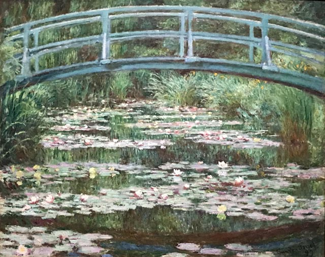 Claude Monet, The Japanese Footbridge, 1899 National Gallery of Art, Washington, D.C., Gift of Victoria Nebeker Coberly, in memory of her son John W. Mudd nad Walter H. and Leonore Annenberg, 1992
