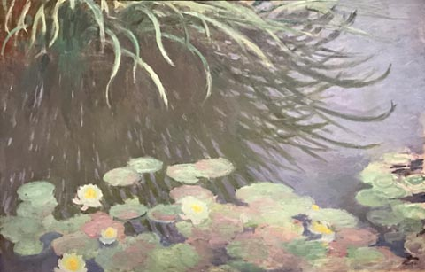 Claude Monet, Water Lilies, Reflections of Tall Grasses, c1897 Collection of David Nahmad