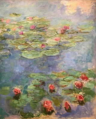 Claude Monet, Water Llilys, 1914-17 Fine Arts Museums of San Francisco,  Museum purchase, Mildred Anna Williams Collection, 1973