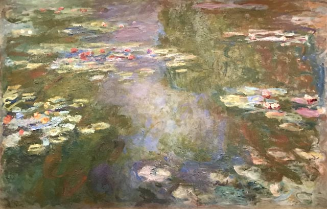 Claude Monet, Water-Lily Pond, 1917-19 Art Institute of Chicago, Gift of Mrs. Harvey Kaplan, 1982