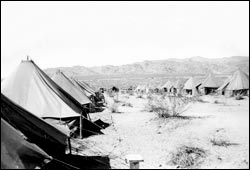Lines of Tents at Camp Young in India CA