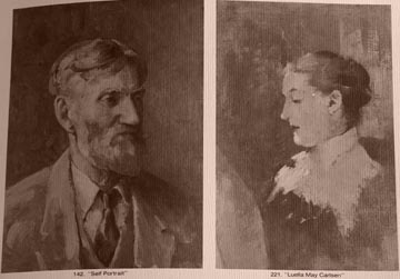 Emil and Luella May Carlsen Portraits