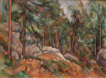 Paul Cezanne Forest Interior ca 1898-1899